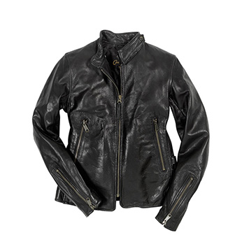 Motorcycle Cafe Racer Jacket - W71A002 - Black