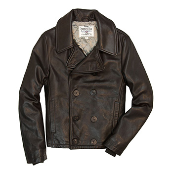 Сockpit USA - Куртка Мужская - Naval Short Leather Peacoat - Z21U025 - Dk Brown
