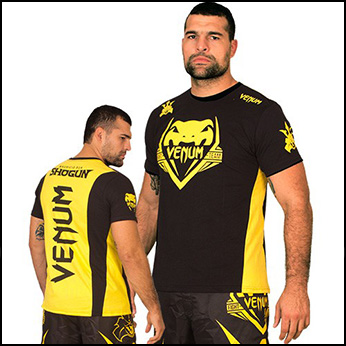 Venum - Футболка - SHOGUN TEAM SHOCKWAVE - BLACK-YELLOW