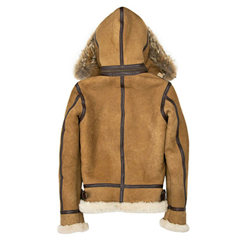 Сockpit USA - Куртка Женская - Womens Hooded B-3 Bomber Jacket - W72N300 - Tan фото, цена, описание