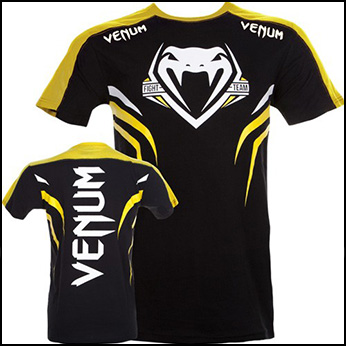 Venum - Футболка - SHOCKWAVE 2 - BLACK-YELLOW