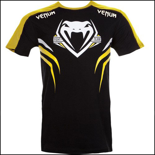 Venum - Футболка - SHOCKWAVE 2 - BLACK-YELLOW фото, цена, описание